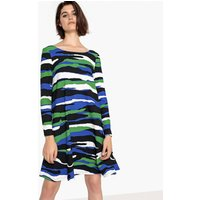 shop for Camouflage Print Dress with Peplum at Shopo