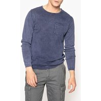 Cold Dyed Crew Neck Jumper with Chest Pocket