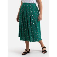 shop for Buttoned Midaxi Skirt in Floral Print at Shopo