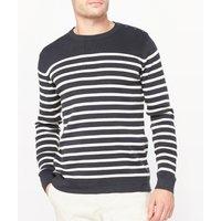 Organic Cotton Crew Neck Breton Stripe Jumper