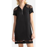 shop for Laced Short Dress with Short Sleeves at Shopo