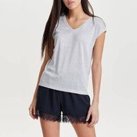Metallic V-Neck T-Shirt