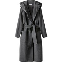 Robe Style Hooded Coat