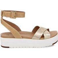 Tipton Metallic Leather Wedge Sandals