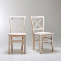 Set of 2 Perrine Solid Beech Chairs