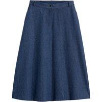Denim A-Line Midi Skirt