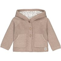Cotton Mix Buttoned Cardigan with Hood, Birth-2 Years
