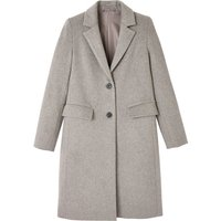 Straight Mid-Length Coat in Wool Mix
