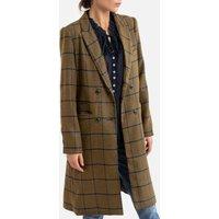 Checked Mid-Length Coat.