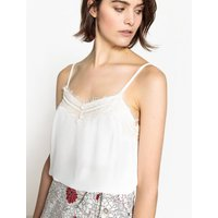 Lace Camisole Top with Shoestring Straps