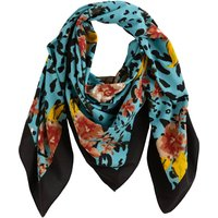 Floral/Leopard Print Scarf