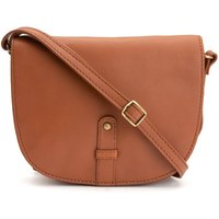Small Leather Messenger Saddle Bag with Shoulder Strap