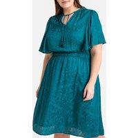 shop for Tasselled Jacquard Dress at Shopo