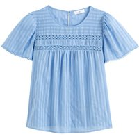 shop for Cotton Blouse with Short Ruffled Sleeves at Shopo