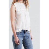 Plain Sleeveless Round Neck Blouse