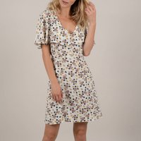 shop for Floral Print Dress with Tie-Back at Shopo