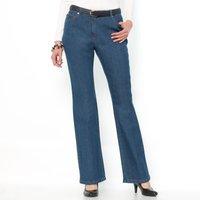 Stretch Denim 5-Pocket Jeans, Flared Cut, Length 30.5