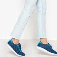 Sneackers Grigio/rosa;blu donna Baskets ultra leggere fantasia