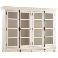 Eulali 4-Door Glass-Fronted Cabinet