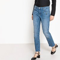 Straight Leg Jeans with Jewel Detail, Length 26.5