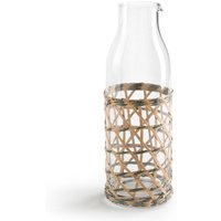 Qualimna Glass Carafe with Wooden Strapping