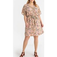 shop for Mid-Length Shift Dress in Floral Print at Shopo