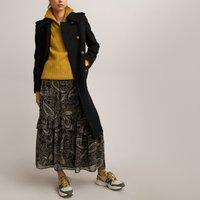 Ruffled Paisley Print Midaxi Skirt