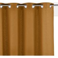 Panama Plain Single Cotton Curtain with Eyelets.