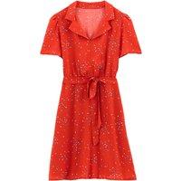 shop for Floral Print Tie-Waist Tea Dress at Shopo