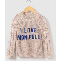 High Neck Jumper with I Love Message, 3-14 Years