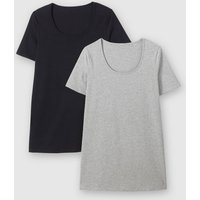 Pack of 2 Short-Sleeved Cotton T-Shirts