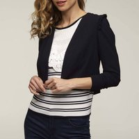 Long-Sleeved Bolero with Ruffled Shoulders