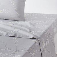 Natsumi Floral Cotton Flat Sheet