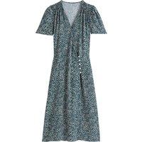 shop for Floral Wrapover Midi Dress at Shopo