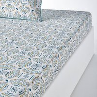 Keyiah Patterned Cotton Fitted Sheet