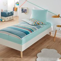 Zachary Geometric Cotton Ready-For-Bed Set Without Duvet