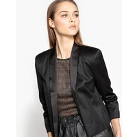 Satin Feel Cropped Blazer