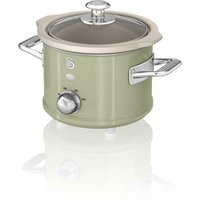 1.5L Slow Cooker Retro Green