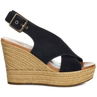 Harlow Blk Leather Sandals