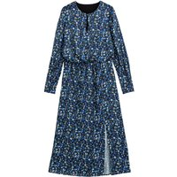 shop for Floral Print Midaxi Dress with Long Sleeves at Shopo