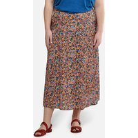 shop for Jacquard Straight Midaxi Skirt in Floral Print at Shopo