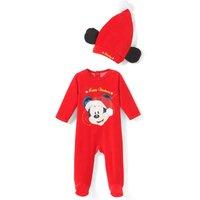 Christmas Mickey Mouse Sleepsuit+Beanie,3-18 Mths