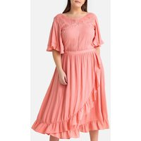 Ruffled Midaxi Dress with Short Sleeves