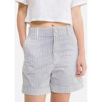 Striped High Waist Shorts in Cotton.