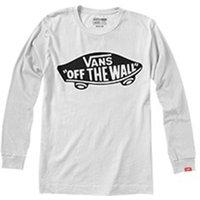 T-shirt bianco uomo T-shirt con scollo rotondo tinta unita maniche lunghe
