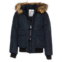 Jacket with Faux Fur Trim Hood, 10-16 Years