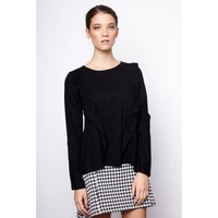 Blouse with Ruffled Detail