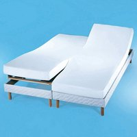 Flannelette Cover for Adjoining Mattresses, 220g/m2