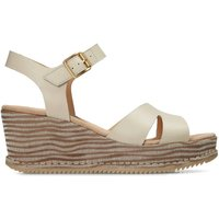 Akilah Eden Leather Wedge Sandals