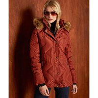 Water-Resistant Padded Down Jacket with Faux Fur Collar and Pockets